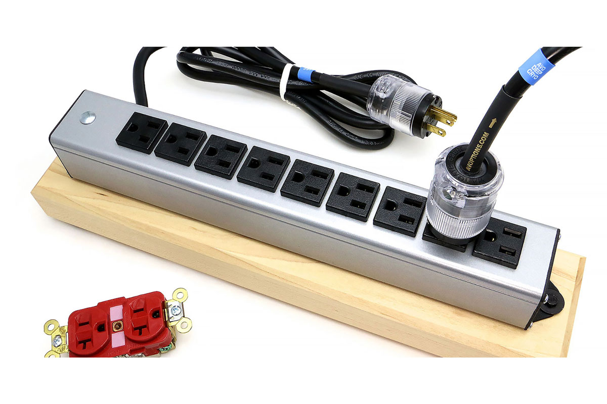 AV Options SuperWiremold Deep-Cryo 9 Outlet Power Strip